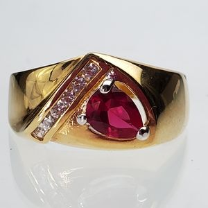 Other - Gold plated size 14 cocktail ring